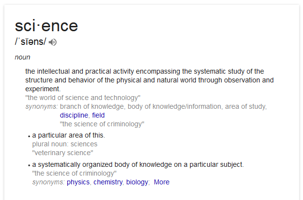 science-definition