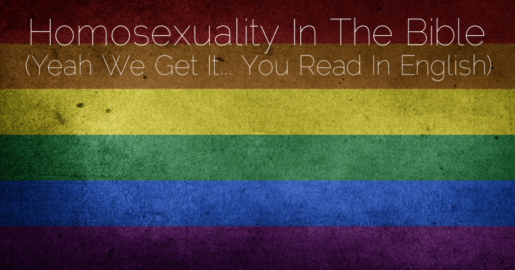 Benjamites homosexuality and christianity